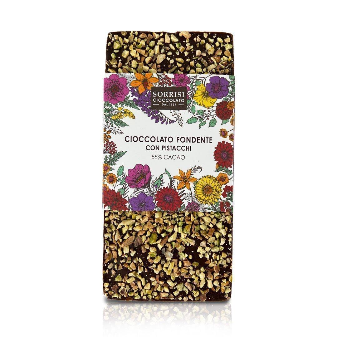 Boellasorrisi cioccolato fondente con pistacchi 55