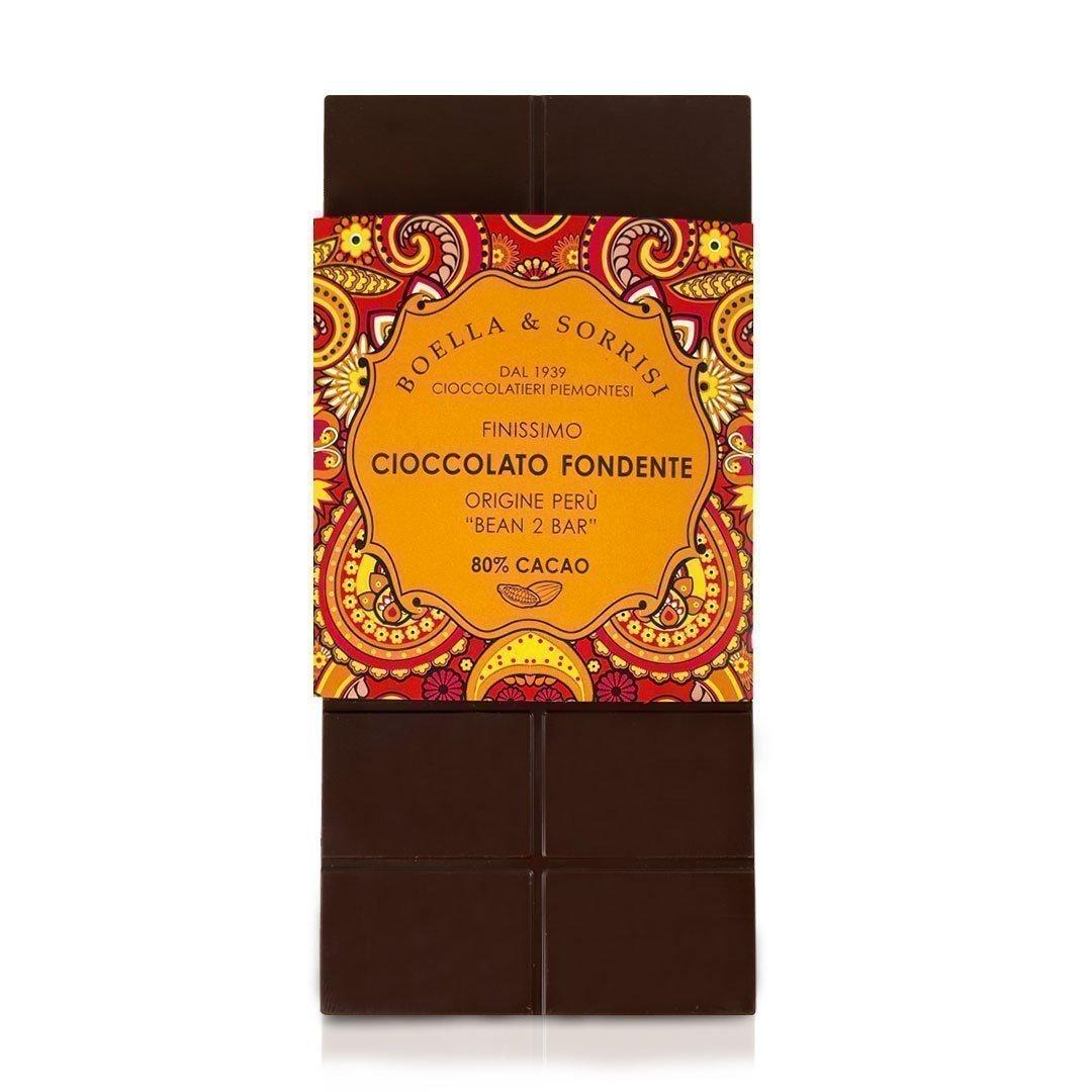 Boellasorrisi cioccolato fondente origine peru 80