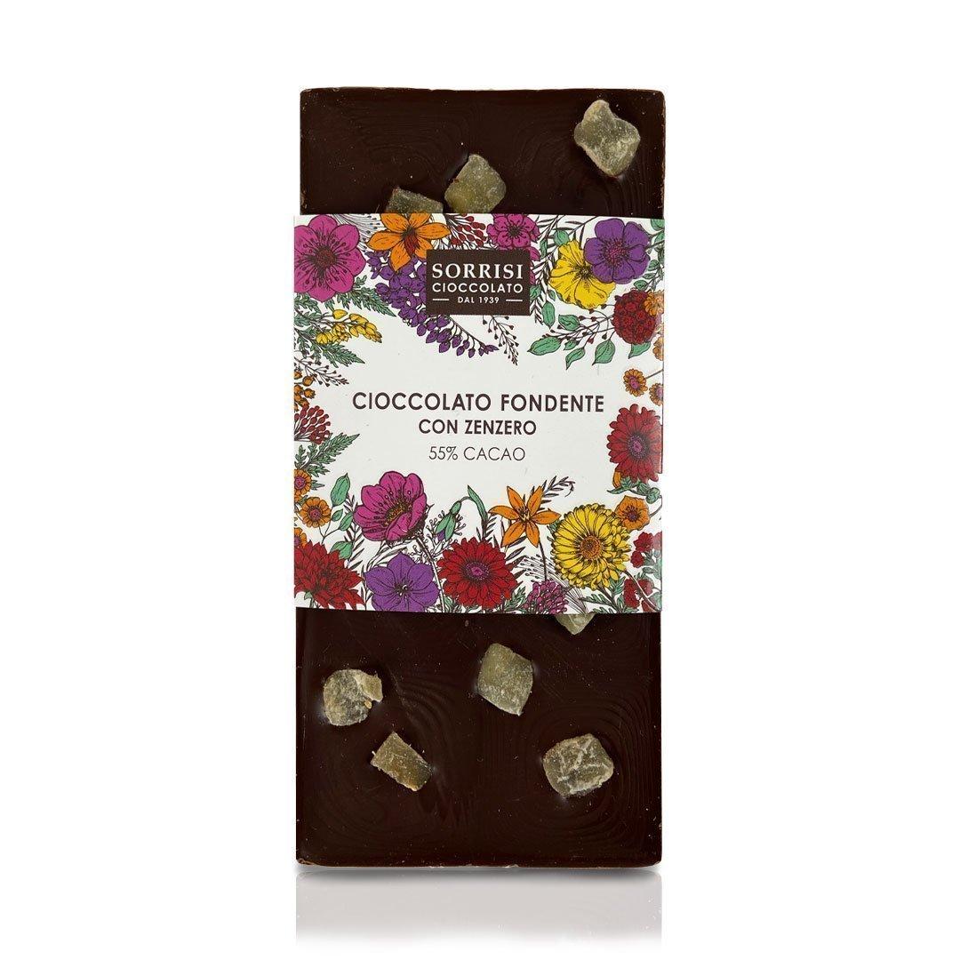 Boellasorrisi tavoletta cioccolato fondente con zenzero 55