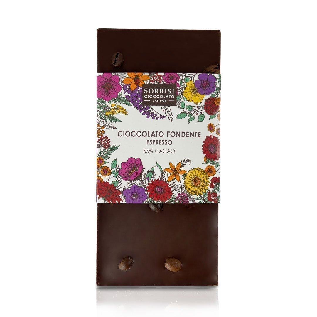 Boellasorrisi tavoletta cioccolato fondente espresso 55 cacao