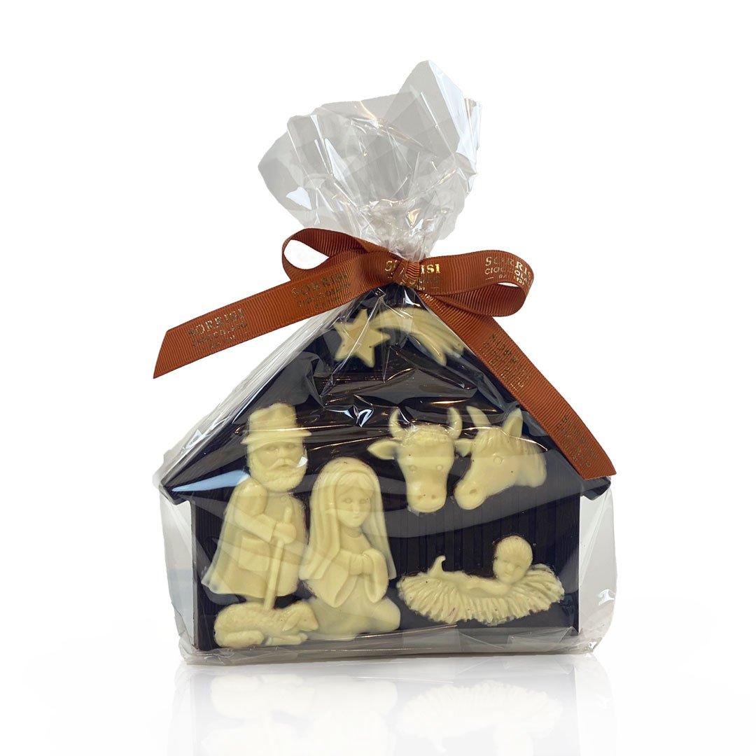 boellasorrisi presepe cioccolato fondente